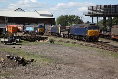 08567 (Under restoration), 57302, 47815 & 47818 (all operational), Eastleigh Works - 02/06/18