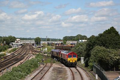 66034 & 66168 run LE through Eastleigh - 02/06/18