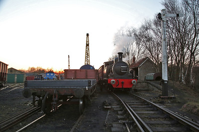 RSH 2730/1891 'Twizell', Marley Hill Platform, having just arrived on the BLS 'The Tanfield Terminator' tour - 25/02/18