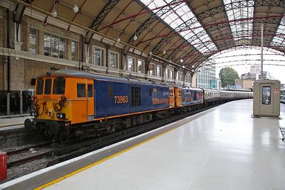 73963/73961, London Victoria, on rear of 1Z10 - 20/09/18