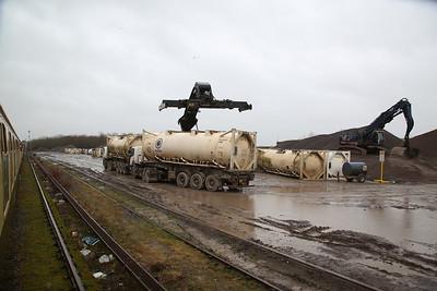 1Z27 arrives at Appleford Sidings, Didcot - 27/01/18