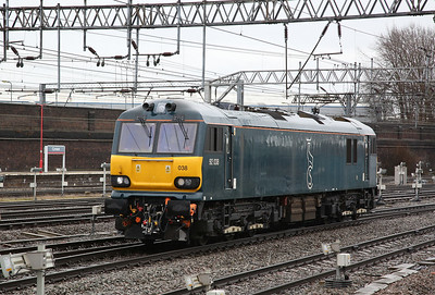 92038 runs LE into Crewe station - 10/02/18