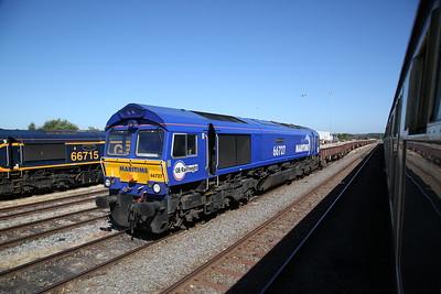 66727, Toton yard, ballast train - 30/06/18