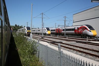 1Z25 passing Doncaster Carr IEP depot - 30/06/18