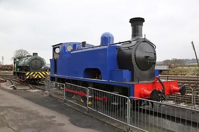NBL 24564/1939 'Coventry No.1' & HE3890/1964 'NCB 66', on display, Buckinghamshire Railway Centre, Quainton Road - 17/03/18