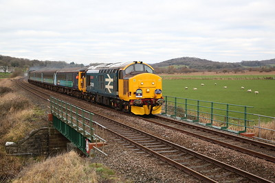 Northern charity 'Class 37 Farewell' special, 11th January 2019