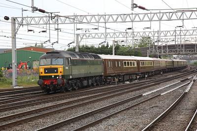 47501 (D1944) dep Stafford, on rear of 1Z25 05.42 Milton Keynes-Appleby Statesman Rail charter - 01/06/19