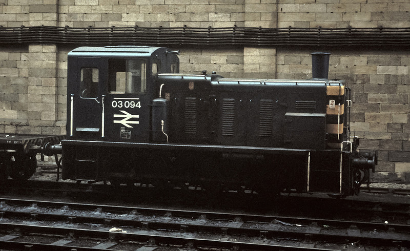 Newcastle Central always had a Class 03 as a pilot engine but it was never in a good position for photography whenever I visited! Making the best of a bad job 03094 was seen on 21 July 1984