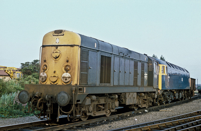 20075 and 47599 are seen at Toton depot on 22 July 1984