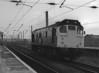25072 runs light engine north through Warrington Bank Quay on 30 September 1985