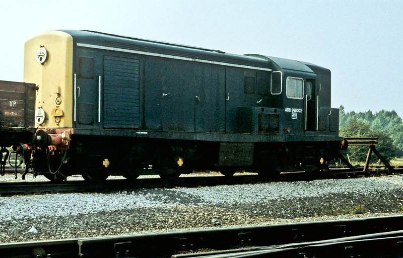ADB986002, the former Class 15 D8237, was dumped at the rear of Toton depot on 21 August 1984