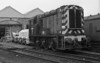 A forlorn 08430 sits outside Motherwell TMD minus its coupling rods on 28 September 1985