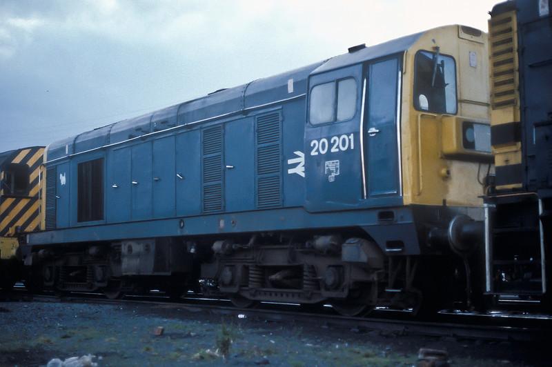 20201 at Ayr depot on 10 November 1985