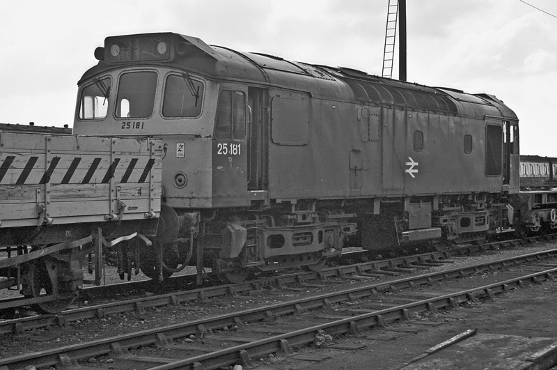 Having disgraced itself by failing at Andover the previous year while working a railtour 25181 was still at Eastleigh depot on 1 May 1987. It was to remain there until cut-up on site the following year