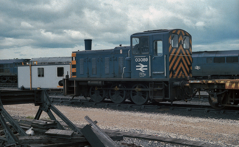 03089 is in front of the stabling point at York on 11 June 1985