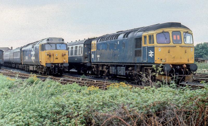 33051 + 50043 Fratton Yard May 1984
