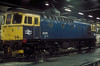 33001 sits in the running shed at Eastleigh TMD on the night of 16 December 1985