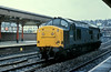 37210 runs light engine through Newport on 23 November 1982