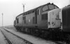 37216 sits among sister locos at a very misty Tinsley on 29 September 1985