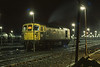 33118 sits out the night at Eastleigh TMD on 16 December 1985