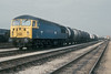 56018 waits for a crew while parked in the yard next to Thornaby depot on 3 May 1985