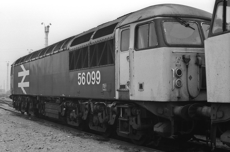 56099 is stabled at Tinsley on 29 September 1985