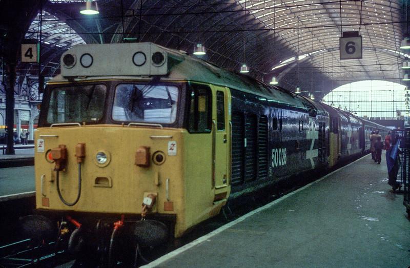 50028 + 50031 London Paddington 14 November 1982