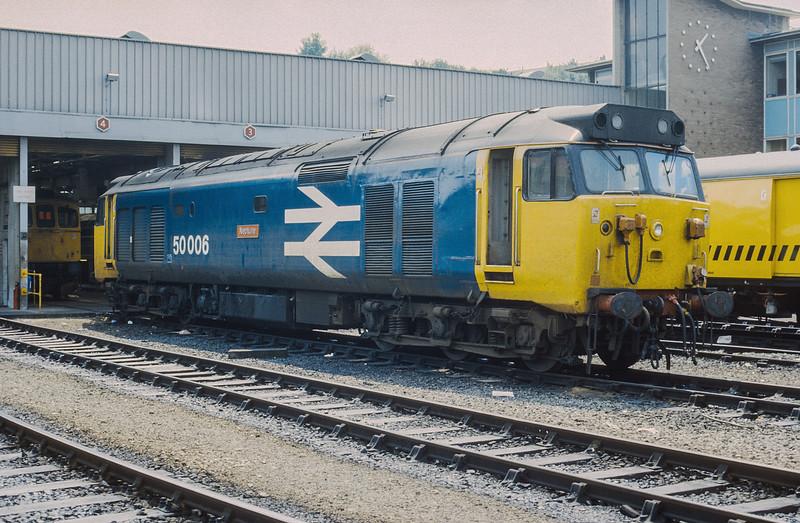 50006 waits its next turn of duty at Bristol Bath Road on 14 June 1986