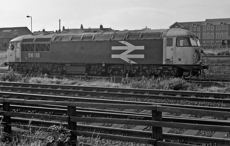 56118 runs around its train at York on 2 October 1985