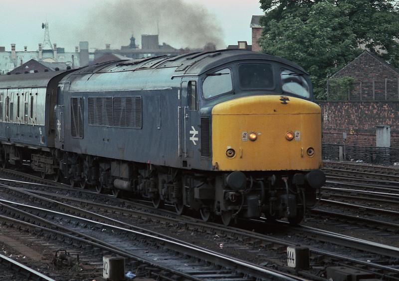 45130 smokes away from York on 11 June 1985