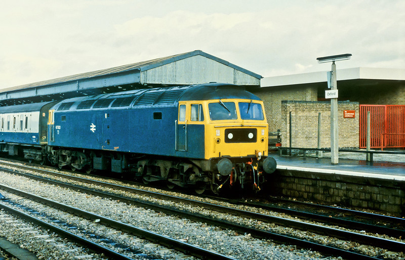 47502 runs into Oxford with an inter-regional service on 20 November 1982