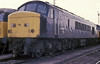 45009 sits in the sidings at Tinsley on 26 May 1986