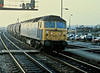 47262 heads up through Bristol Parkway with a tank train on 28 October 1982