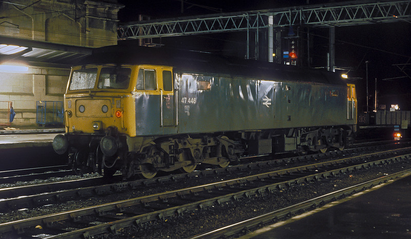 In the early morning of 10 November 1985 47446 is at Carlisle