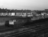 47346 leaves Eastleigh with a tank train for Fawley on 30 November 1982