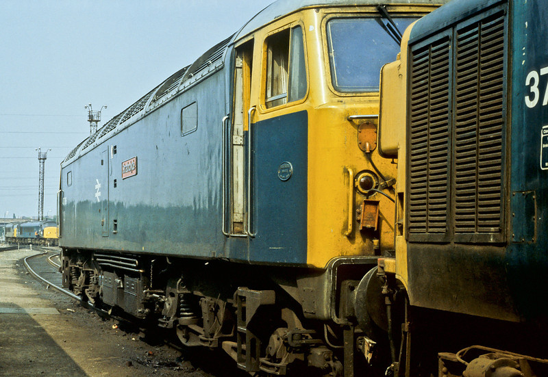 An unusual visitor to Toton depot on 21 August 1984 was 47706, well away from its Scottish push-pull duties