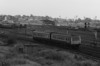 Class 111 formed of 78723 and 78973 head out of York with a local service to Harrogate on 2 October 1985