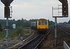 Rebuilt Class 111 dmmu units 78709 and 78959 run into Retford on 4 June 1985