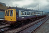 A converted 2 car set with all the seats removed for parcels traffic was at Buxton on 11 November 1986 comprising 53072 and 51785