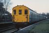 1401 leaves Bursledon with a Salisbury bound train on 5 March 1985