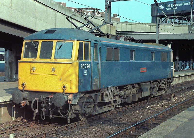 86224 'Caledonian' prepares to leave Euston having arrived with an up express on 15 April 1984
