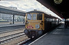 An unusual pairing of 73114 and 73140 arrive at Reading with a railtour to Crewe and Derby works on 2 June 1984