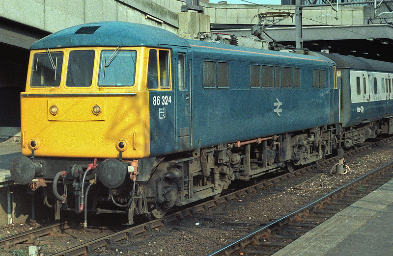 86324 is at Euston on 15 April 1984