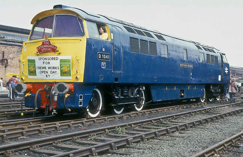 """Class Western BR D1041 """"Western Prince"""" Crewe Works Open Day 4 July 1987"""