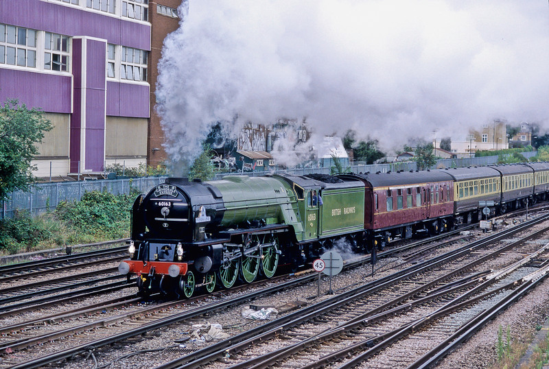 60163 'Tornado' steams through Wimbledon with a Waterloo to Exeter service on 13 September 2009