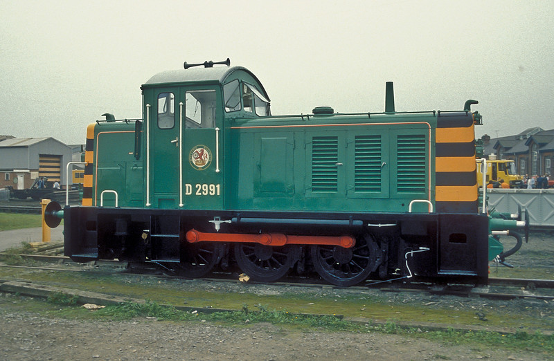 Class Ruston Diesel Shunter (later BR 07) BR D2991 Eastleigh Works Open Day 1986