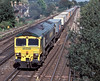 66532 approaches Worting Junction with a 'liner service on 20 August 2004