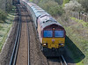 66002 6M48 Southampton Eastern Docks to Halewood, St. Cross, Winchester 16 April 2021