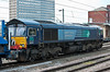 At the time of the photograph 66415 is on lease to Freightliner - it is seen at Crewe on 1 June 2012