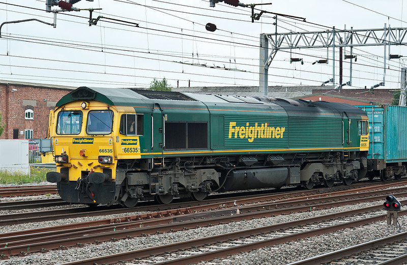 66535 heads south through Stafford on 1 June 2012